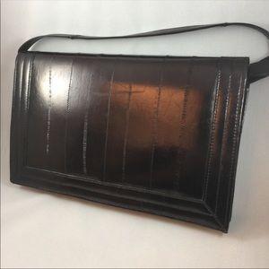 Handbags - Vintage // Eel Skin Purse Clutch...